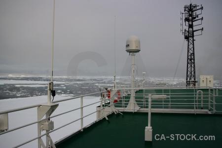Antarctic peninsula vehicle south pole ship deck.