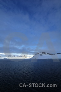 Antarctic peninsula water snowcap marguerite bay snow.