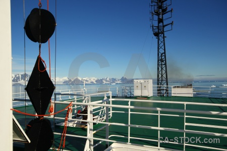 Antarctic peninsula water snowcap sky akademik ioffe.