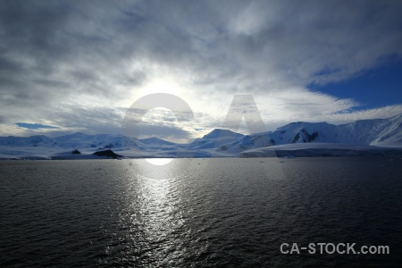 Antarctica antarctic peninsula landscape cloud water.