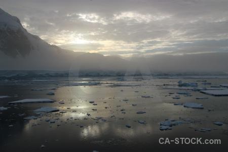 Antarctica antarctic peninsula sky fog ice.