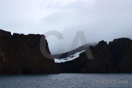 Antarctica antarctic peninsula water sky volcano.