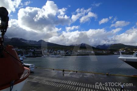 Antarctica cruise port argentina harbour boat.