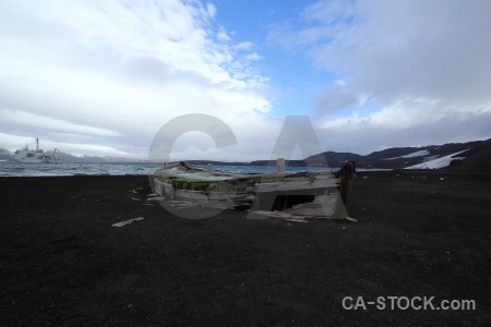 Antarctica cruise sky vehicle wood deception island.
