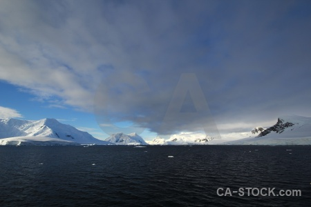 Antarctica landscape marguerite bay cloud sea.