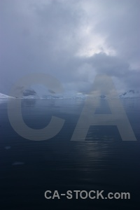 Antarctica paradise harbour mountain south pole snow.