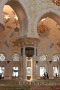 Arabian inside western asia arabic building.