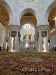 Arabic carpet archway abu dhabi inside.