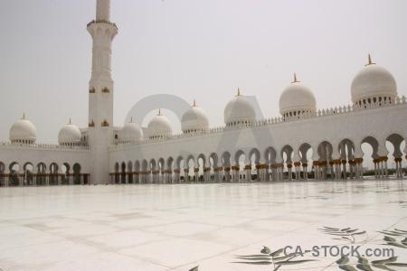 Arabic sheikh zayed mosque western asia abu dhabi.