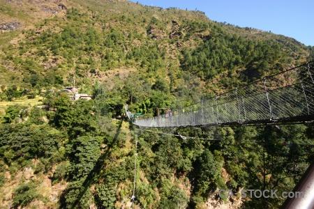 Araniko highway asia bridge nepal tree.