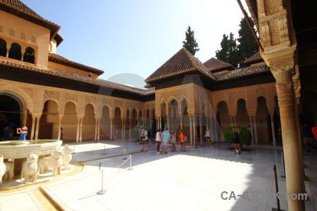 Arch palace la alhambra de granada pillar building.