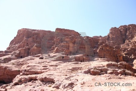 Archaeological cliff sky middle east unesco.