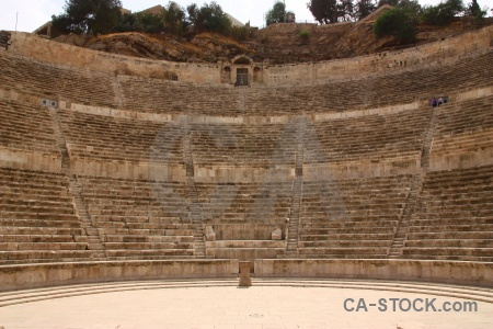 Archaeological historic amman ruin amphitheatre.