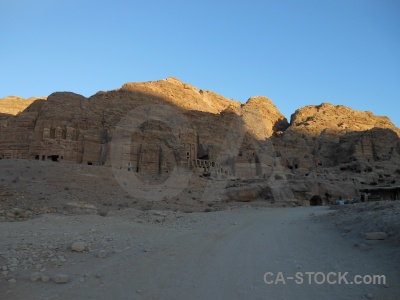 Archaeological historic cliff rock sky.