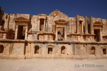 Archaeological jordan ruin asia gerasa.