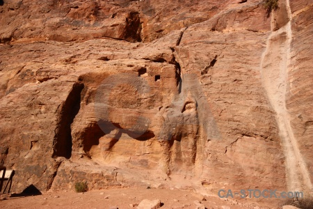 Archaeological middle east rock cliff ancient.