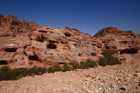 Archaeological rock asia sky petra.