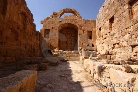 Archaeological roman historic western asia jordan.