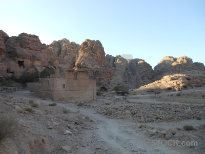 Archaeological sky rock petra cliff.