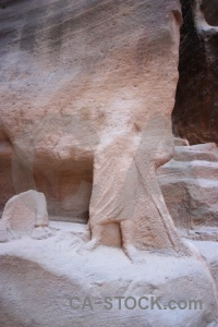 Archaeological unesco carving ancient nabataeans.