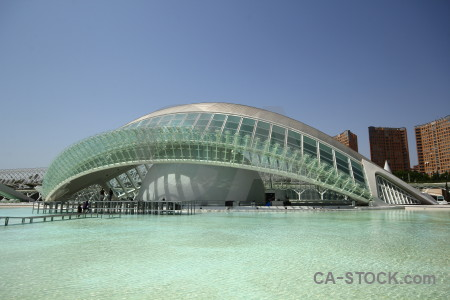 Architecture city of arts and sciences futuristic europe spain.