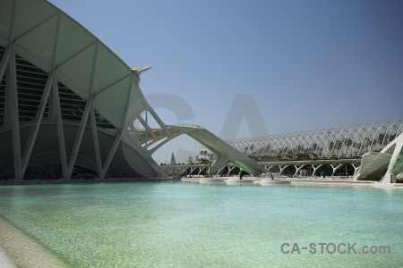 Architecture city of arts and sciences valencia pool modern.