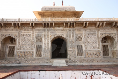 Archway baby taj tomb building marble.