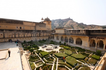 Archway garden south asia palace fort.