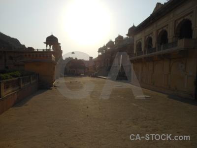 Archway hindu building asia jaipur.