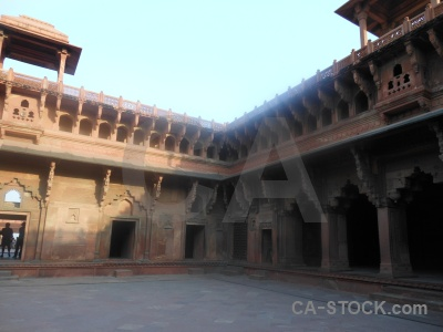 Archway india building mughal sky.