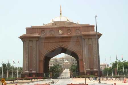 Archway sky emirates palace middle east western asia.