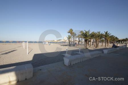 Arenal sand sky beach spain.