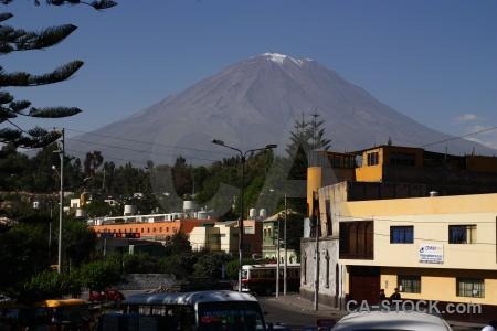 Arequipa el misti stratovolcano south america car.
