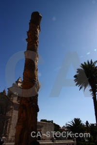 Arequipa palm tree pole yanahuara peru.
