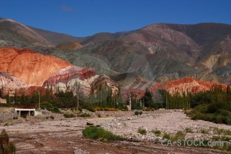 Argentina cerro de los siete colores rock purmamarca landscape.