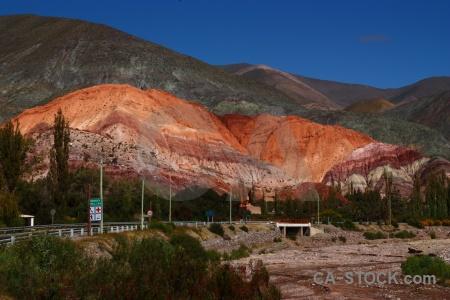 Argentina cliff purmamarca rock sky.