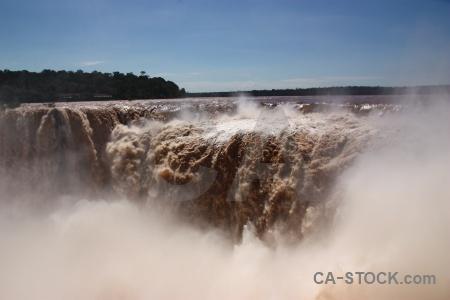 Argentina garganta del diablo tree iguazu falls river.