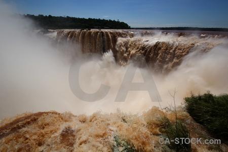 Argentina iguassu falls sky iguazu river south america.