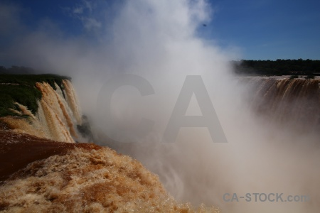 Argentina iguazu falls south america waterfall river.