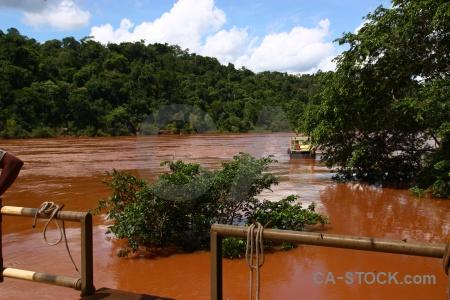 Argentina iguazu falls water south america cloud.