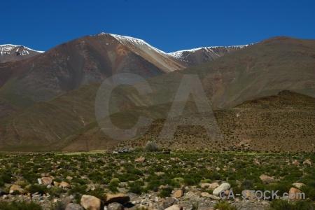 Argentina snowcap andes rock snow.