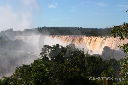 Argentina water unesco iguazu falls spray.