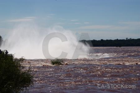 Argentina waterfall sky tree garganta del diablo.