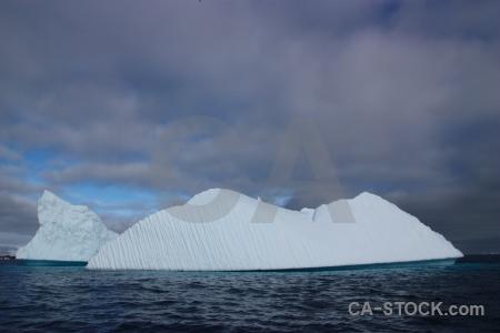 Argentine islands wilhelm archipelago cloud water iceberg.