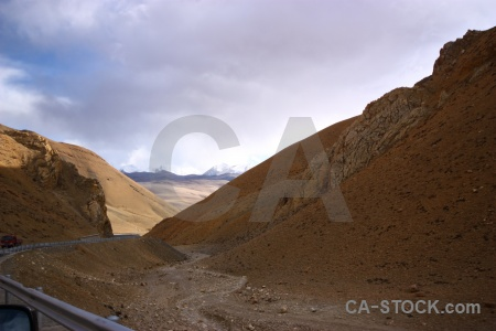 Arid cloud mountain tibet east asia.