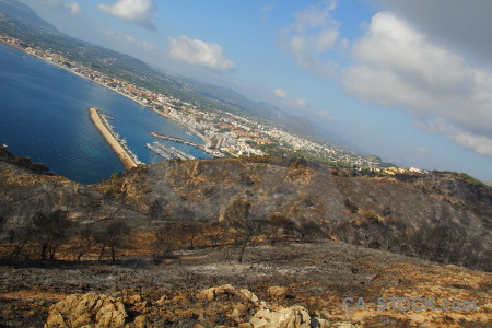 Ash burnt europe javea montgo fire.