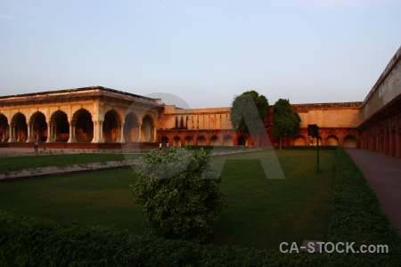 Asia agra fort archway building monument.