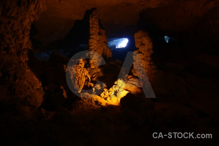 Asia amazing cave vinh ha long unesco vietnam.