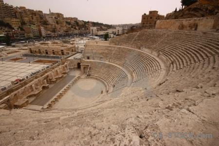 Asia amphitheatre sky ruin western.