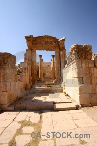 Asia ancient archway gerasa block.